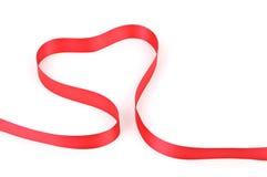 heart shape Red ribbon Stock Photo