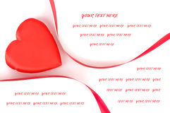 Heart shape with red ribbon on white background Royalty Free Stock Image