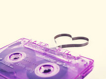 Heart Shape. Retro compact cassette with Heart Shape Royalty Free Stock Images