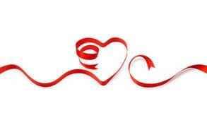 Heart shape ribbon royalty free stock photography