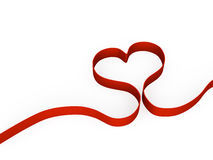 Heart shape from ribbon Royalty Free Stock Images