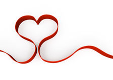 Heart shape from ribbon Stock Photo