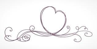 Heart shape ribbon. Valentines day, wedding, birthday card. Isolated on white background Royalty Free Stock Photography