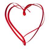 Heart shape ribbon Stock Photography