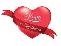 Heart shape with ribbon. Stock Image