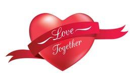 Heart shape with ribbon. Stock Image