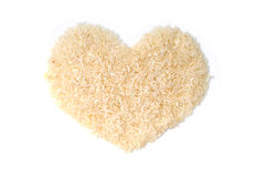 Heart shape Rice Royalty Free Stock Photography