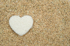 Heart shape rice Stock Images