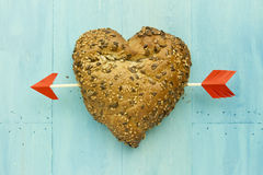Heart shape roll Stock Images