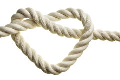 Heart shape rope stock image