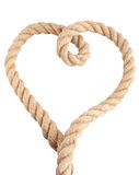 Heart shape from rope Stock Photos