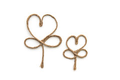 Heart shape rope Stock Photography