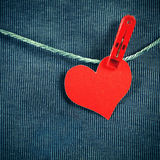 Heart Shape on the Rope Stock Image
