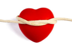 Heart Shape With Rope Stock Photography