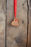 Heart shape Saint Valentine's gingerbread Cookies Stock Photos