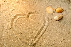 Heart shape in sand Royalty Free Stock Photo