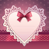 Heart shape scrapbook template background Royalty Free Stock Images