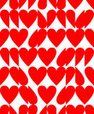 Heart shape seamless pattern Royalty Free Stock Images