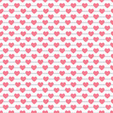 Heart shape seamless pattern. Pink color. Endless texture can be used for printing onto fabric and paper or scrap booking. Valentines day background for stock illustration