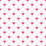 Heart shape seamless pattern. Pink color Stock Photography