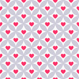 Heart shape seamless pattern. Pink color Royalty Free Stock Image