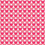 Heart shape seamless pattern. Pink color Royalty Free Stock Images