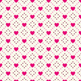 Heart shape seamless pattern. Pink and white Stock Photos