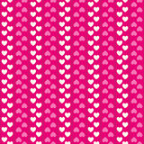 Heart shape seamless pattern. Pink and white Royalty Free Stock Image