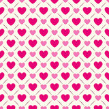 Heart shape seamless pattern. Pink and white Royalty Free Stock Images