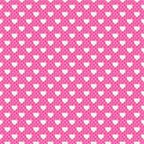 Heart shape seamless pattern. Pink and white Royalty Free Stock Photo