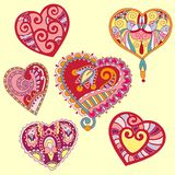 Heart shape set. For your design valentines card Royalty Free Stock Photo