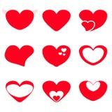 Heart shape set. Vector heart shape set creative Stock Photo