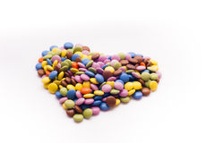 Heart shape. D colorful lovely candies royalty free stock photography