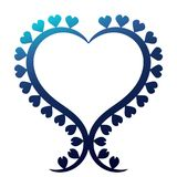 Heart Shape Shinny Blue Border Frame Royalty Free Stock Images