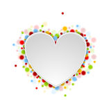 Heart shape with shiny lights Stock Photography