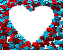 Heart Shape with Shiny Sequins Stock Photo