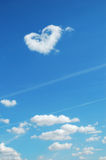 Heart shape in sky Stock Image