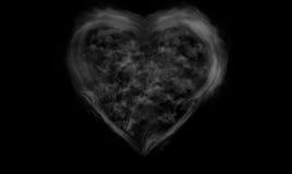 Heart shape smoke on black background Royalty Free Stock Photography