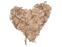 Heart Shape on Soil Background Stock Photography