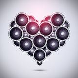 Heart Shape of Sound Speakers Royalty Free Stock Images