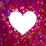 Heart shape with sparkles. Royalty Free Stock Image
