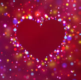 Heart shape with sparkles. Royalty Free Stock Images
