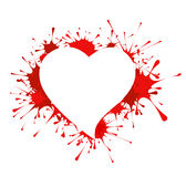 Heart shape in splashes Royalty Free Stock Photo