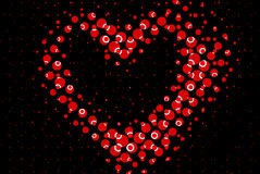 Heart shape spotted circles Stock Photos