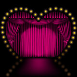 Heart shape stage Royalty Free Stock Photography