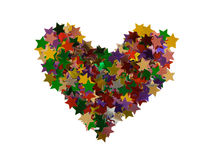 Heart shape stars Stock Image