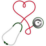Heart shape stethoscope. Cardiology concept. Royalty Free Stock Photography