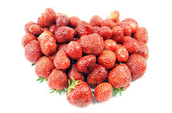 Heart Shape Strawberries Stock Photo