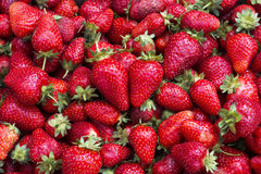 Heart shape of strawberries Stock Image