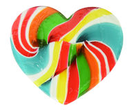 Heart shape of swirl lollipop Royalty Free Stock Photo